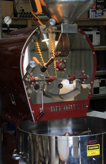 red-coffee-roaster-front-view