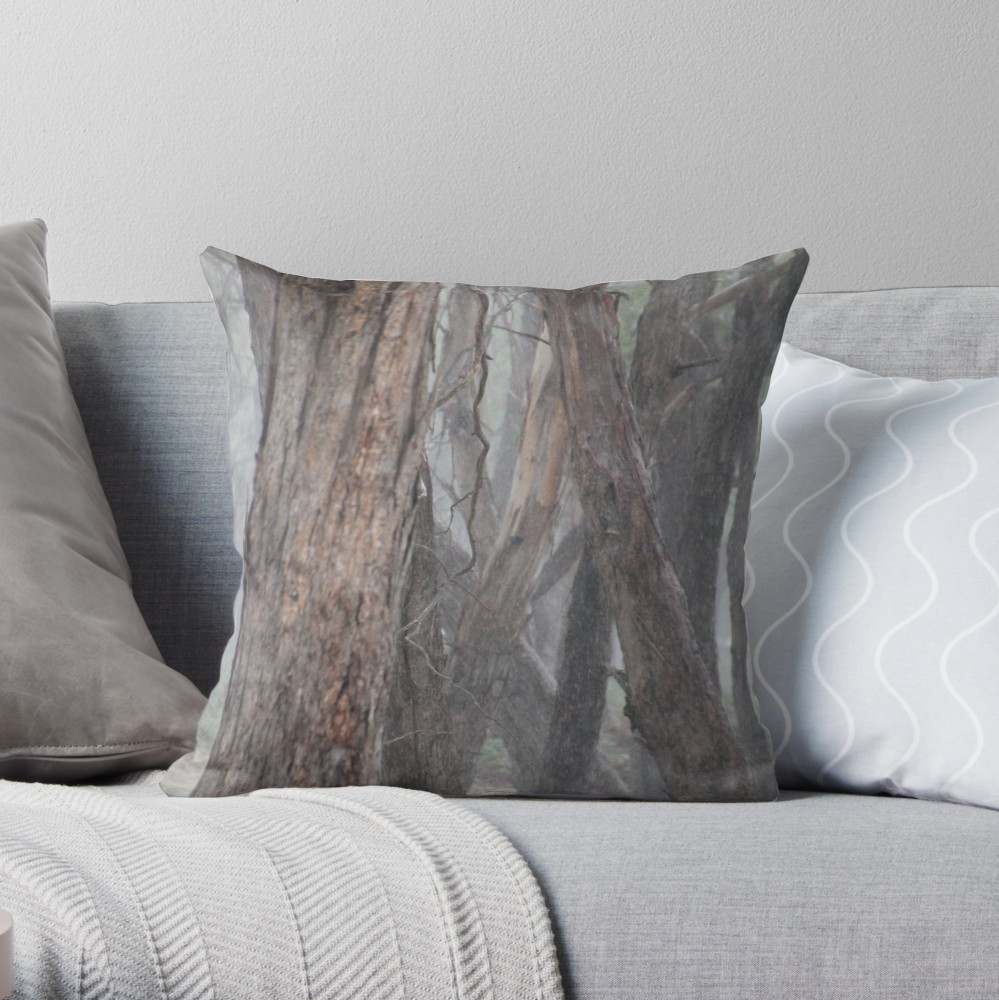 Grey Convergence Throw Pillow