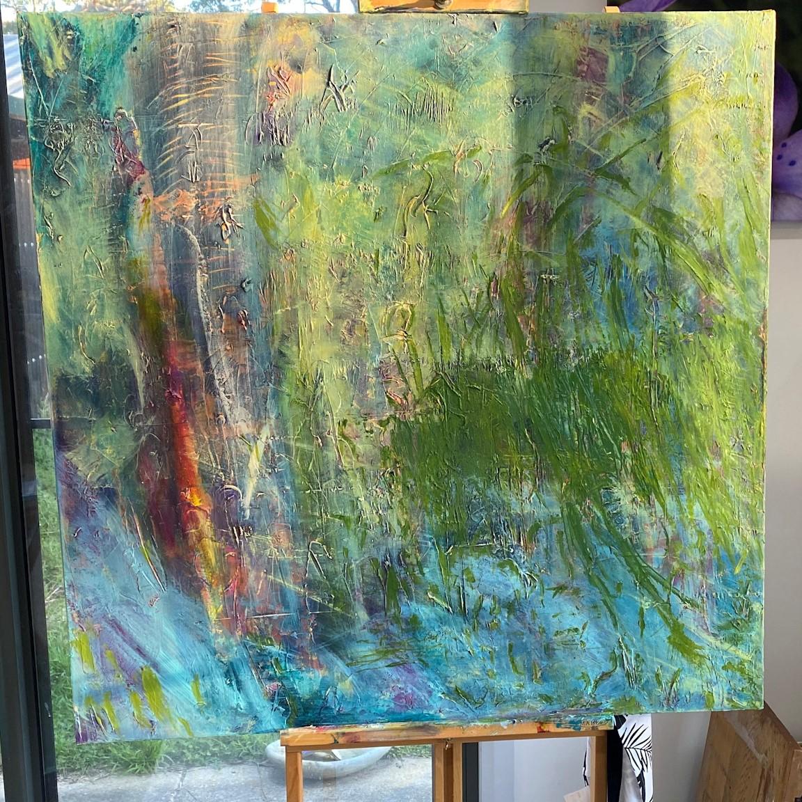 Work in progress - Layer 4-'Trunks' by Lisa G Hunter