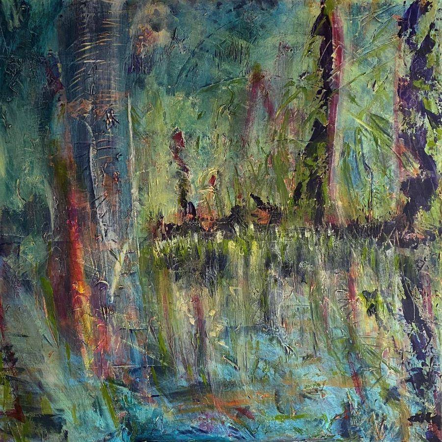 'Trunks' - Lisa G Hunter - Acrylic on Canvas